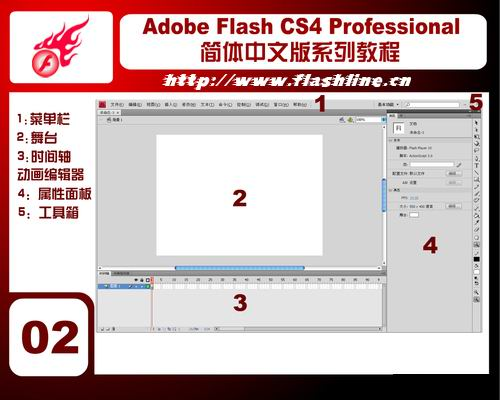 Flash CS4简体中文版教程2 界面布局